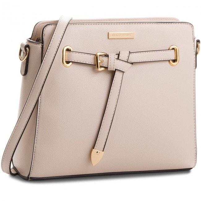 Beżowa torebka ze złotymi dodatkami