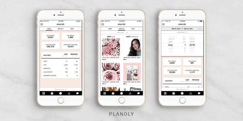 Planoly - pozwala zaplanować posty w mediach społecznościowych
