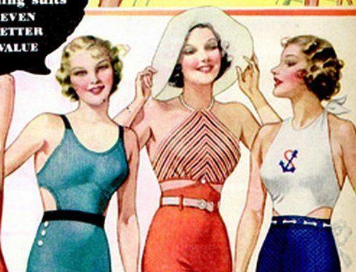 Historia mody - stroje kąpielowe
